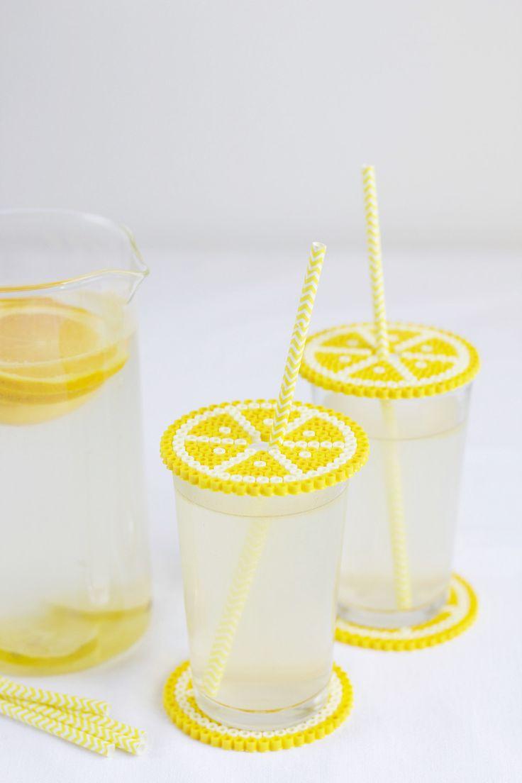 DIY: Untersetzer und Getränkeschutzdeckel aus Bügelperlen   we love handmade