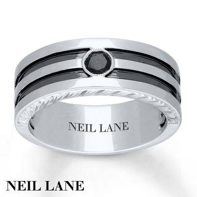 Neil Lane Mens Ring 1 5 Ct Black Diamond 14K Gold 825mm