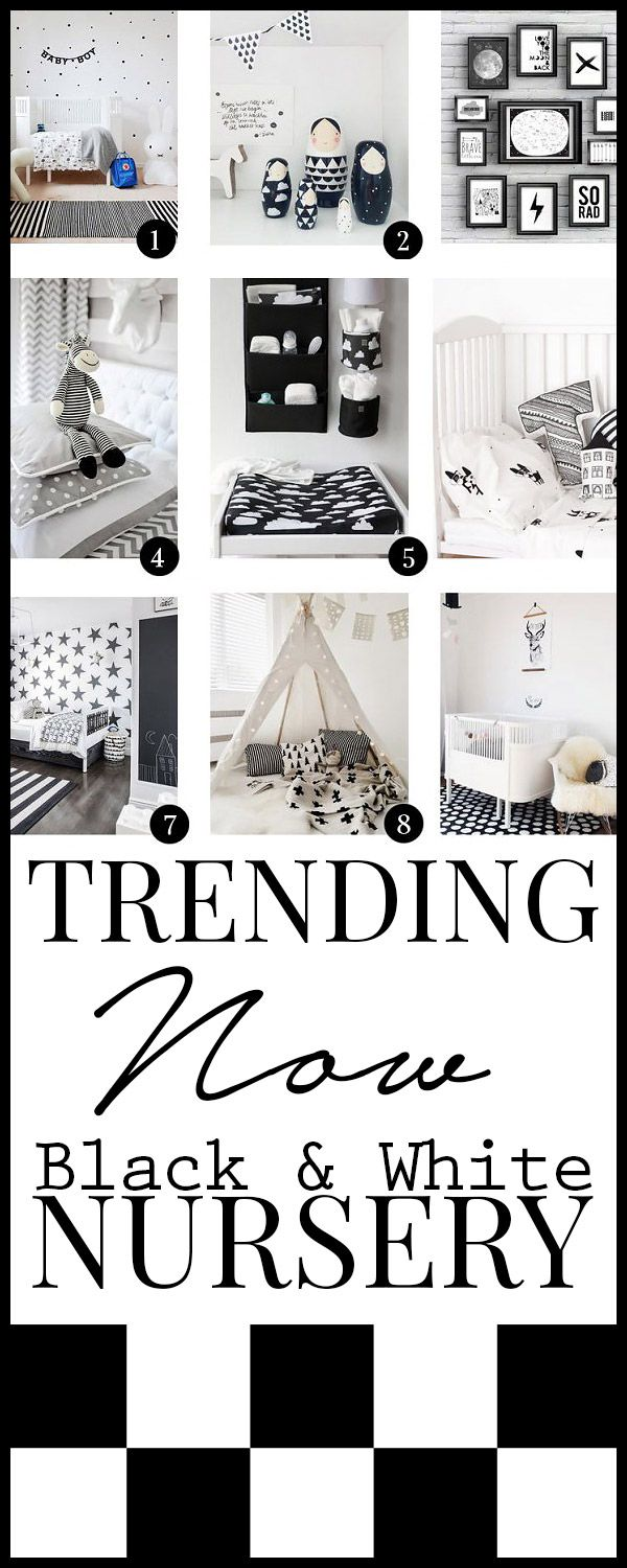 black and white nursery trends, inspiration, diy, ideas and much more!                                                                                                                                                                                 More