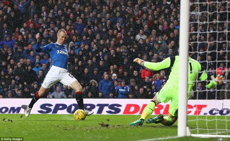 Kenny Miller hit the post from inside six yards and wasted a tremendous chance to salvage a point for Rangers