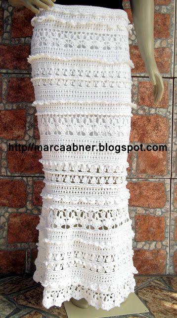 Marcinha crochet: SKIRT LONG IN CROCHET