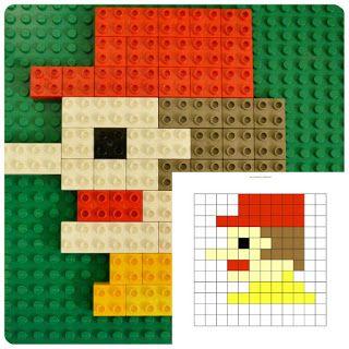 Конструктор в 2Д: создаем мозаику из ЛЕГО // http://www.brick2brick.eu/2016/01/sozdaem-2D-mozaiku-iz-lego.html