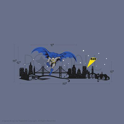 25 best ideas about spiderman wall decals on pinterest for Batman cityscape wall mural