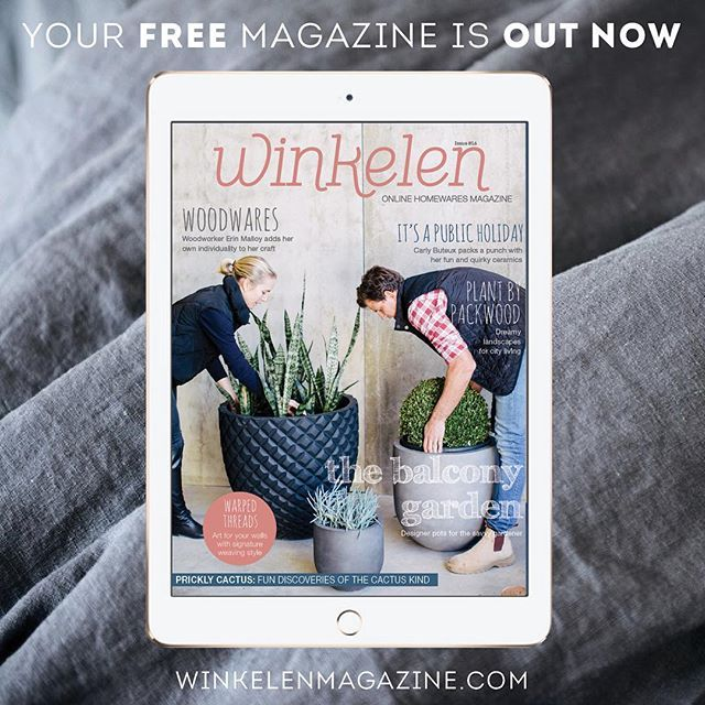 OUT NOW: It's here your free online September home magazine and it's packed full of inspiring stories and ideas. Meet the faces behind the brands and their passions that drive their success. Inside this month the lovely @thebalconygarden @plantbypackwood @erinmalloy @designtree_collective @benjamin_baldwin @itsapublicholiday @warpedthreads @glencross_woodworks @myhiddenforest @tribeandco @maireadmurphyillustration and #silverbeardesigns. We hope you enjoy!  www.winkelenmagazine.com