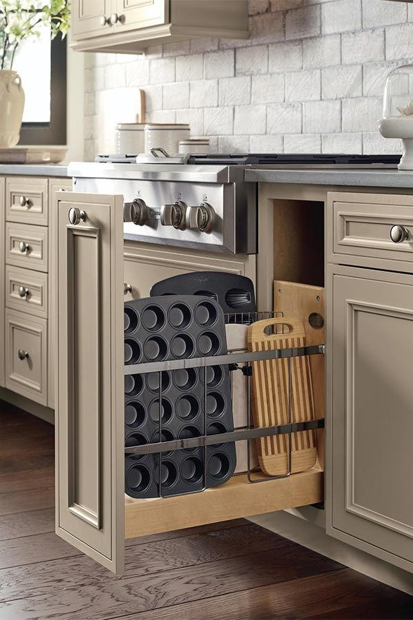 The Base Tray Divider Pull Out Cabinet Ensures Pizza Pans Large Platters And Cutting