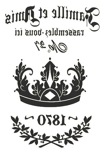 Crown 1870 In reverse image  ............ #DIY #crafts #typography #graphics #vintage #French #furniture #decor