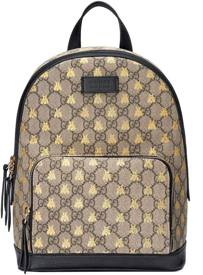 5bf0956ed203 Gucci GG Supreme bees backpack