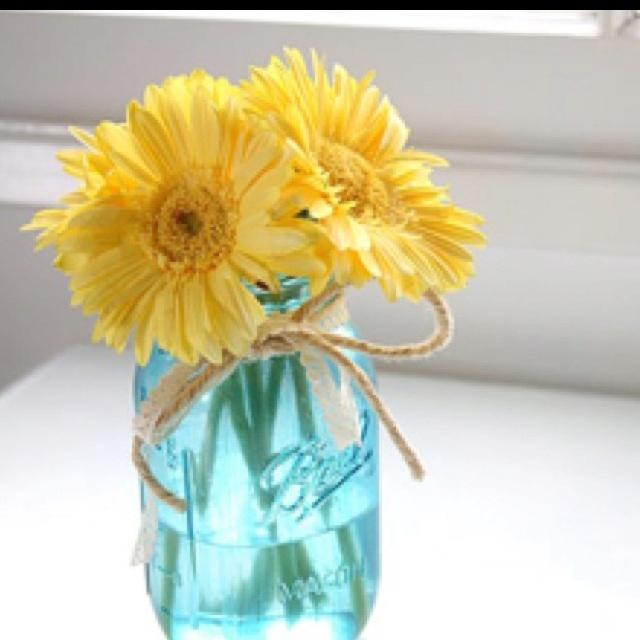 Love mason jar decorations