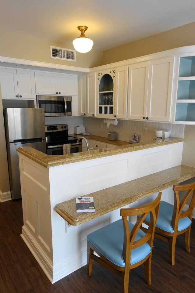 The Living Dining Kitchen Space Of One And Two Bedroom Villas At Disney S Beach Club Villas Yourfirstvisit Net Disney Beach Club Beach Club Villas Beach Club Villas Disney