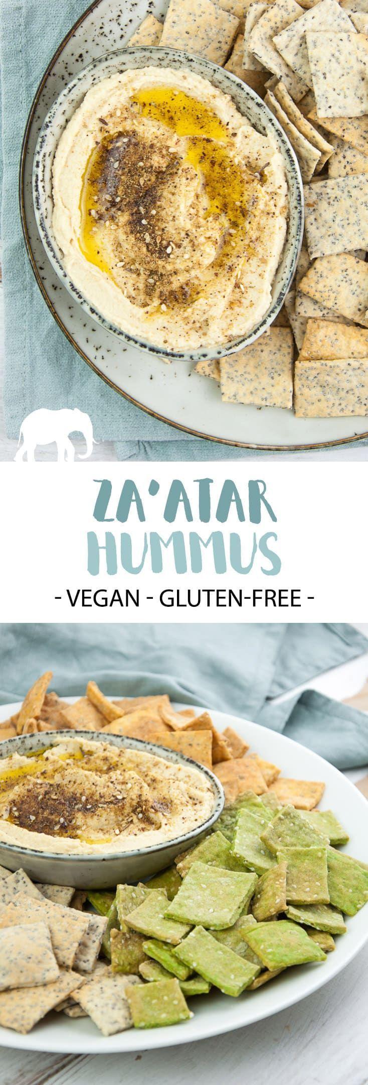 Za'atar Hummus – Creamy Hummus topped with olive oil and Za'atar seasoning. Deli…