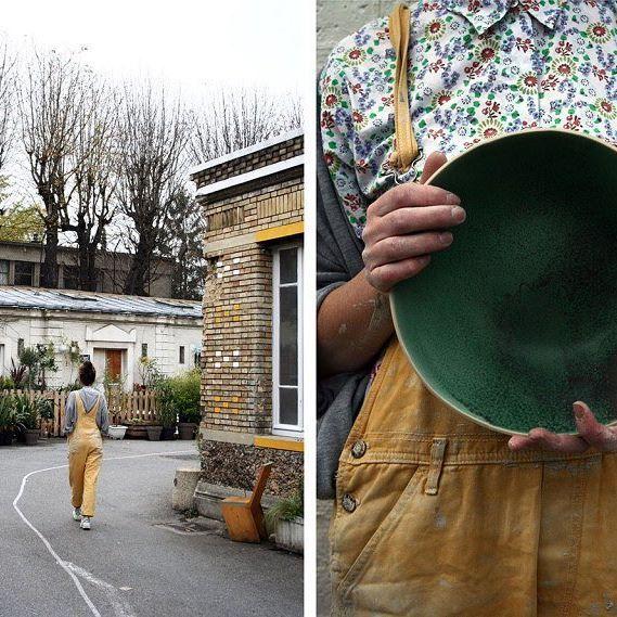🍶 Laurette Broll est céramiste aux Grands Voisins, a Paris 14. Découvrez son parcours et son histoire sur nousparis.com >> Link in bio 💚 📸 : @laura.wencker  #nous_paris #meetthemaker #alarencontredesartisans #madebyhand #madeinparis #craftmanship #paris #craftsmen #ceramics