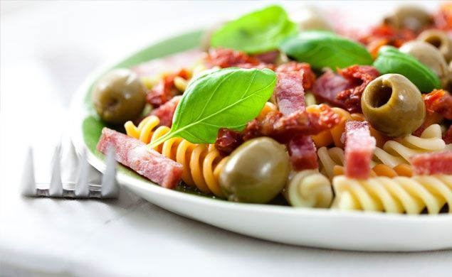Pepperoni Salad. An easy to make and colorful dinner option.