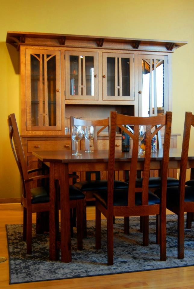Calistoga Hutch (4 Door) At Unplugged Furniture. Natural Maple Doors,  Walnut Body