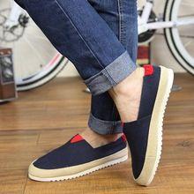 2017 Marca de sapatos Velhos Pequim Sapatos de Lona Respirável dos homens Flats Homens Preguiçosos Sapatos Escorregar Em Patchwork Calçados Casuais Sapato Masculino(China (Mainland))