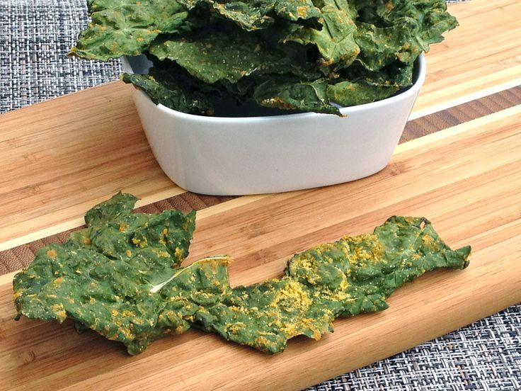 """Oven Dehydrated"" Kale Chips (no dehydrator needed!) via @dreenaburton"