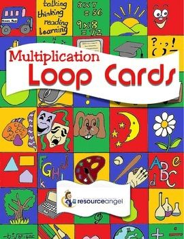 Loop cards for all multiplications. Suitable for every learner. Grades 1-5