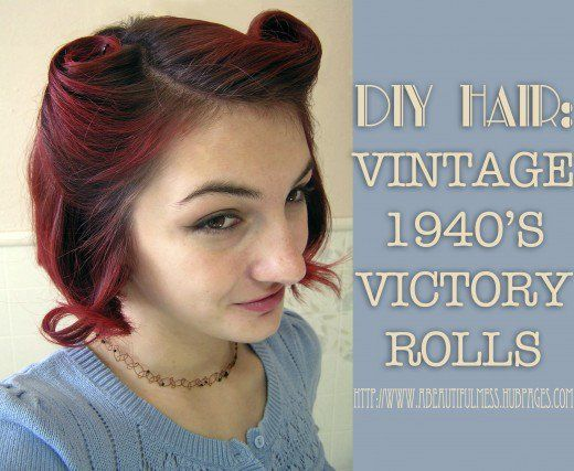 Pin-up hairstyles are hot, and the victory rolls hairdo is a staple! Check out this easy tutorial for an adorable vintage look.