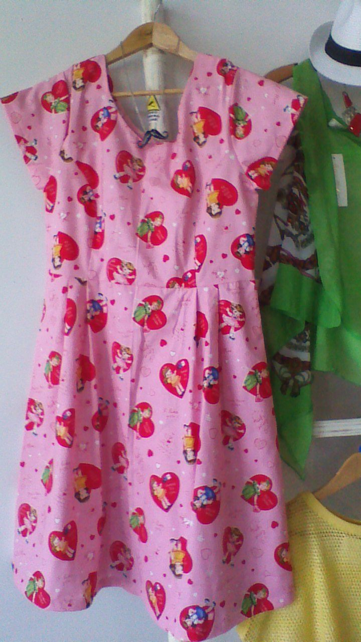 Audrey dress in Baby Gurl fabric.