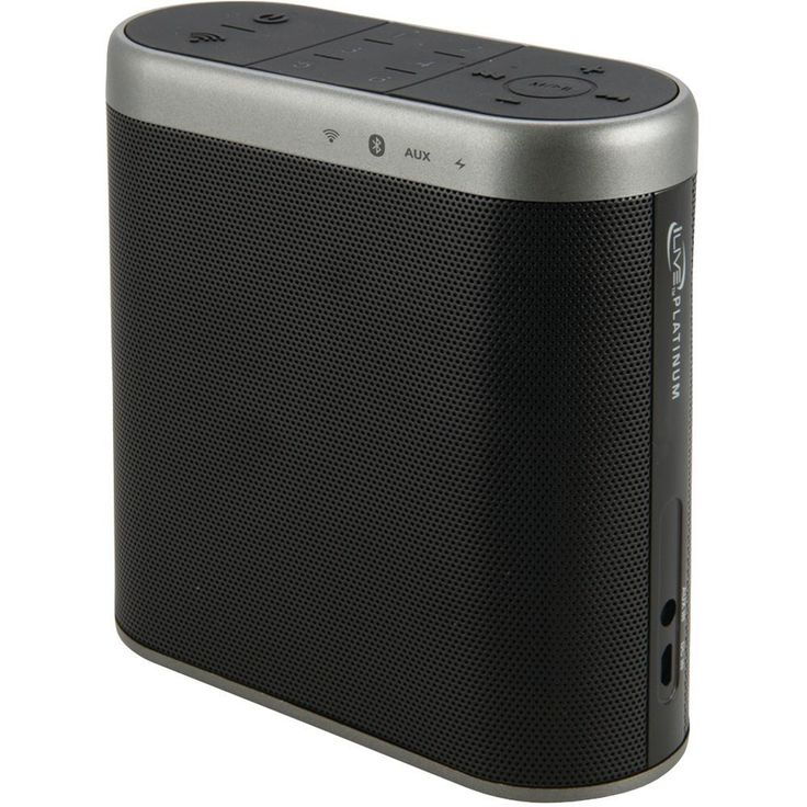 Ilive Platinum Bluetooth Wi-fi Speaker With Rechargeable Battery