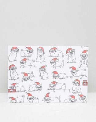 Упаковочная бумага с мопсами Ohh Deer