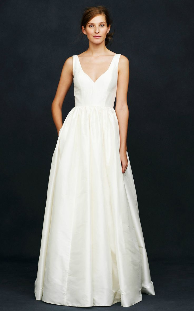 'Karlie' silk ballgown wedding dress with v-neck from J.Crew