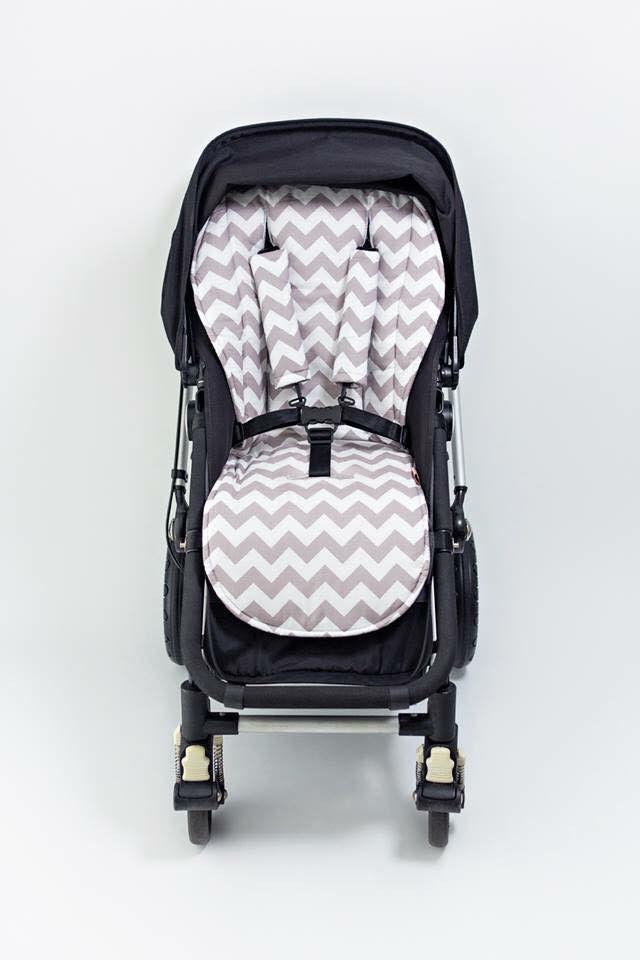 Stroller Liner - Chevron Grey - Bambella Designs