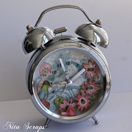 Nita Scraps: Relógio alterado http://nita-scraps.blogspot.pt/
