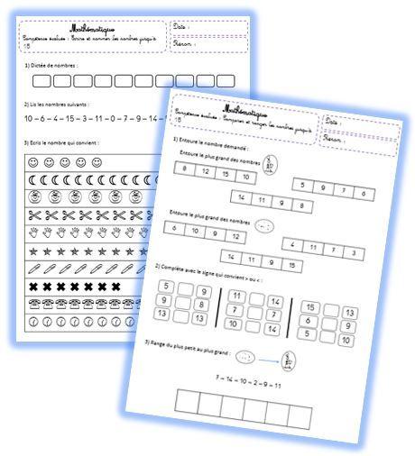 Evaluations de maths CP - Le petit cartable de Sanleane
