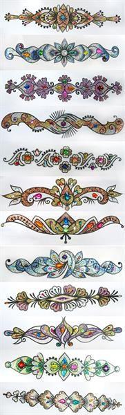 Узоры и орнаменты для расшивки костюмов для танца живота