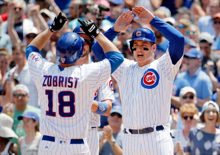 CHICAGO — Addison Russell had a go-ahead home run for his first big contribution since an absence in the wake of a Major League Baseball investigation into domestic abuse allegations, and the Chicago Cubs stopped the Colorado Rockies' seven-game winning streak, 7-5 Sunday.  Russell and Kyle Schwarber had back-to-back home runs in the sixth inning. Miguel Montero and Ben Zobrist also connected, helping the World Series champion Cubs even their record at 31-31.