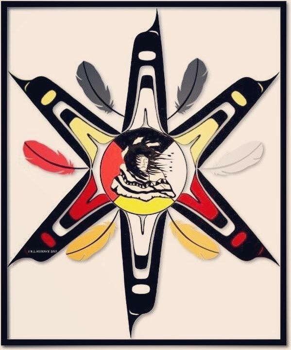 Giidanis #artforsale Original piece by #firstnations R.L.Murphy Copyright R.L.Murphy
