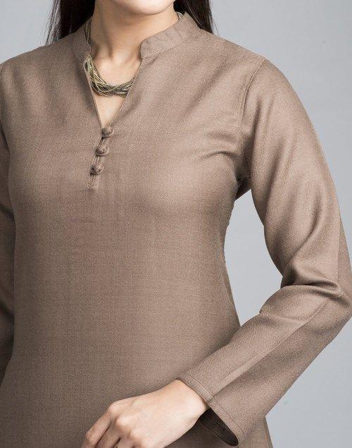 Buy Fabindia Wool Plain Full Sleeves Long Kurta Online- Fabindia.com