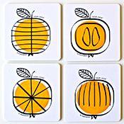 Formverket Pom Pom Set of Four Coasters