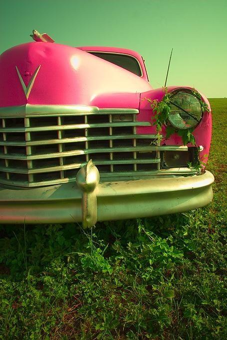 Vintage Car - hot pink!