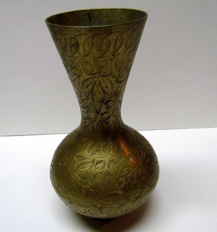 Vintage Brass Decorative Vase, Made in India - Home Decor - Collectable Brass by VINTAGEandMOREshop on Etsy https://www.etsy.com/listing/238879143/vintage-brass-decorative-vase-made-in