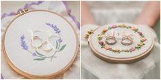Ringkissen Stickrahmen zur lila Pampelmuse