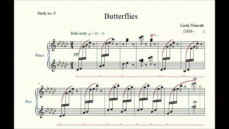 Study no. 8: Butterflies - Linda Niamath - Piano Studies/Etudes 2