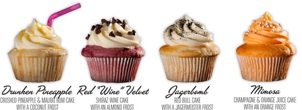 Cupcakes with alcohol- sounds like a plan to me!!