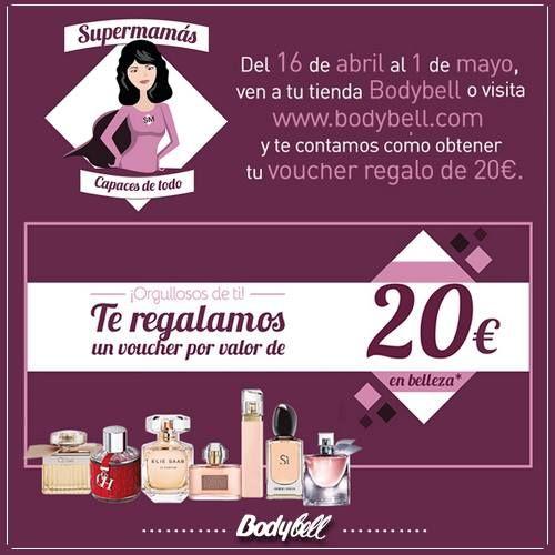¿Quieres conseguir un voucher regalo de 20 euros con Bodybell? hasta el 1 de mayo pregunta condiciones en tu tienda #Bodybell #Zielo Foto de Zielo Shopping Pozuelo.