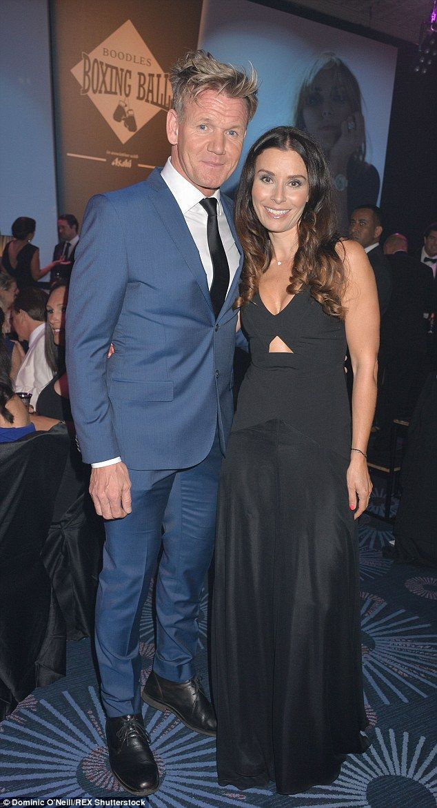 Good cause: Gordon and Tana Ramsay were obviously in attendance with the TV chef cutting a suave figure in a navy suit and his wife looked stunning in a black dress with sexy cut-out detail