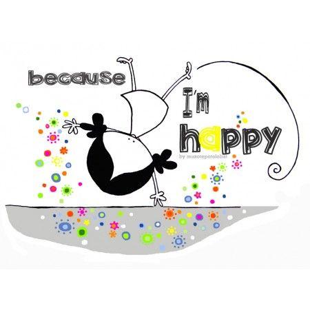 """Lámina """"I'm happy"""""""