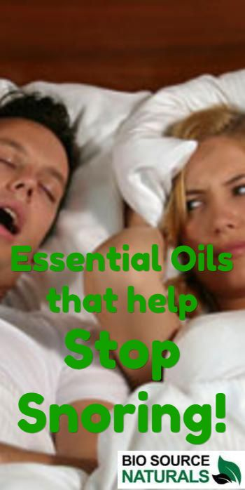 Essential oils to help with snoring