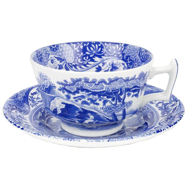 Blue Italian tekopp – Spode – Köp online på Rum21.se