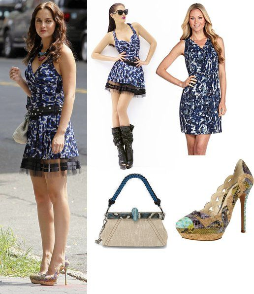 Louis Vuitton Cruise 20210 Blue Print Dress Prada Lino Twist Frame Shoulder Bag