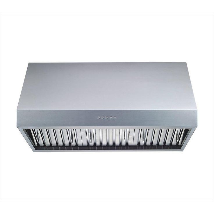 Winflo 36 in. 1000 CFM Professional Grade Ducted Under Cabinet Range Hood in Stainless Steel (Silver) with Baffle Filters