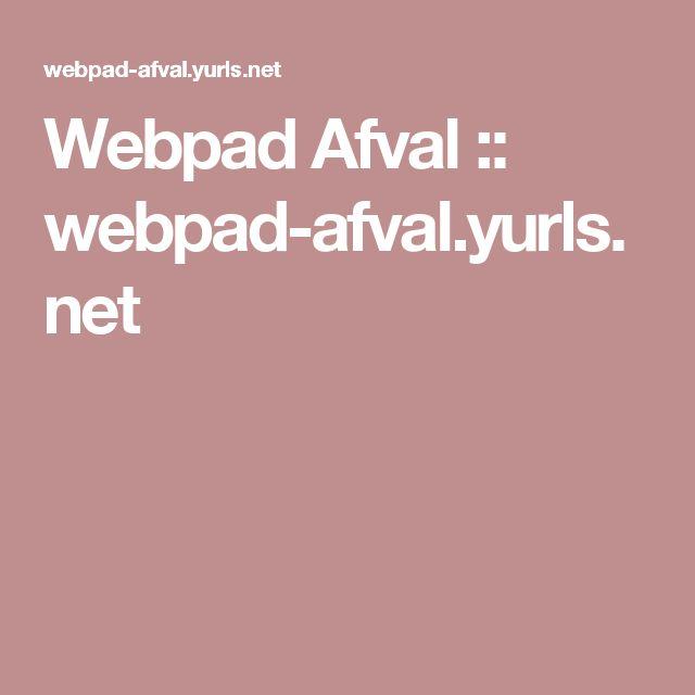 Webpad Afval :: webpad-afval.yurls.net