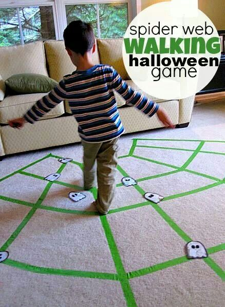 Spiderweb walking game