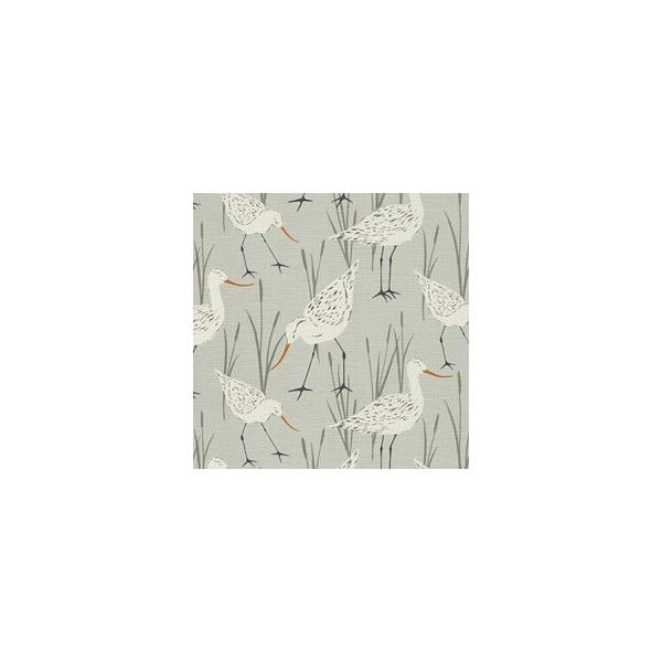 SEA BIRDS BLUE HAZE - Gray/Silver - Shop By Color - Fabric - Calico Corners (£14) found on Polyvore