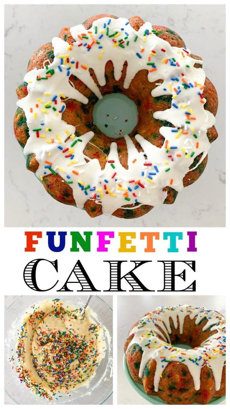 Funfetti bundt cake recipe funfetti cake easy bundt