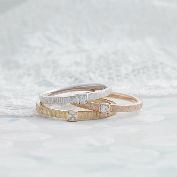 プラチナとゴールドのカラーバリエーション✴︎  marriage マリッジリング 結婚指輪 K18 Gold Pt900 ダイヤモンド diamond ウエディング wedding